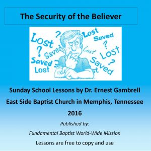 Sunday School Lesson: Security of the Believer