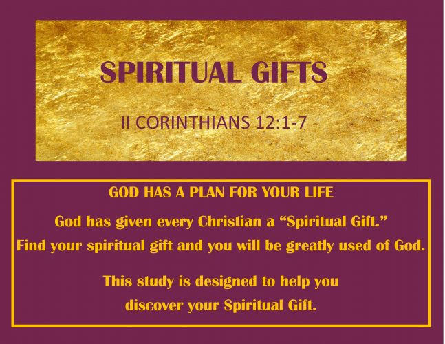 Sunday School Lesson: Spiritual Gifts