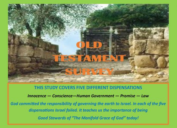 OLD TESTAMENT SURVEY    (14 Lessons)