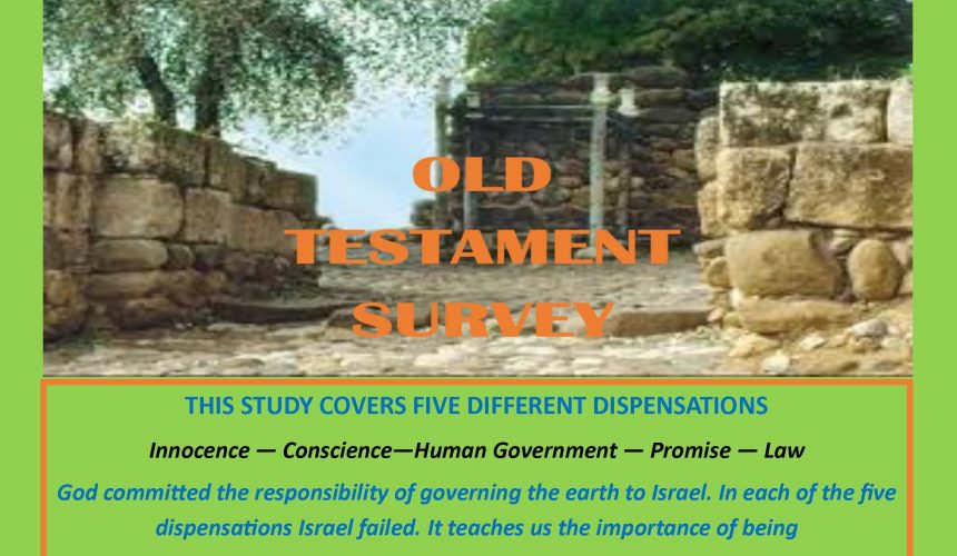 OLD TESTAMENT SURVEY    (14 Lessons)